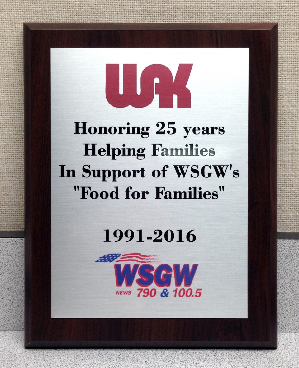 wsgw-25-year-plaque